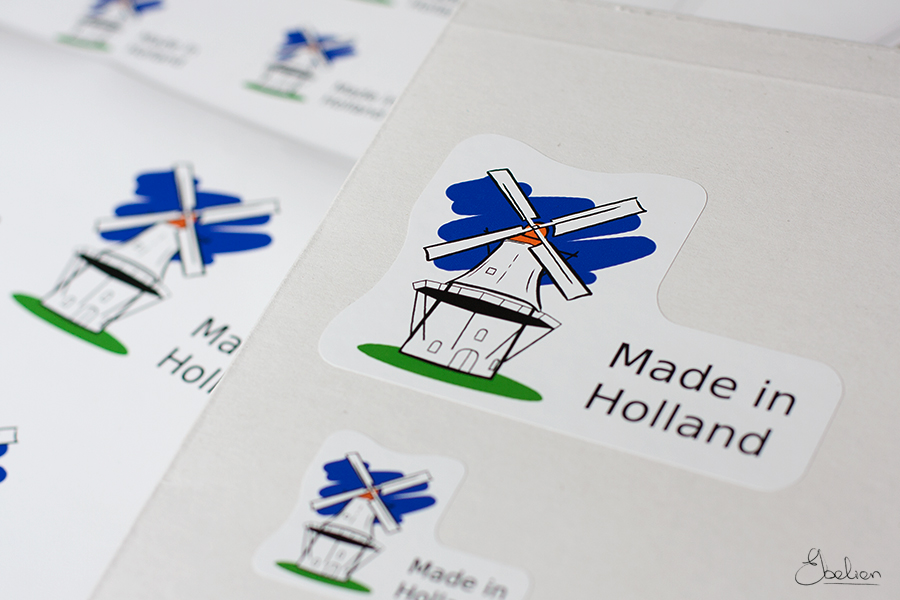 'Made in Holland' sticker