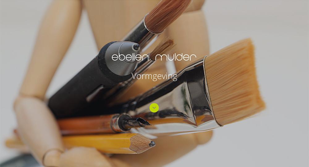 Website Ebelien Mulder Internet Vormgeving