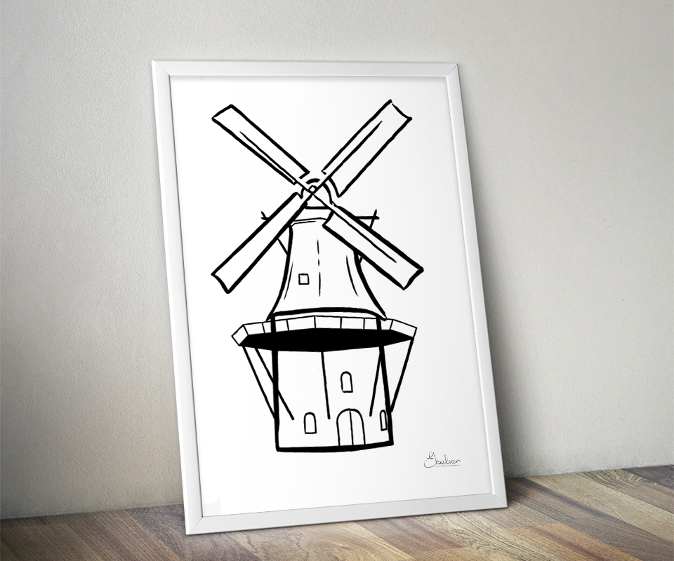 Molen illustratie
