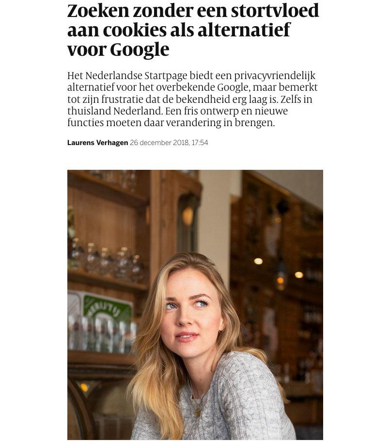 Volkskrant artikel Startpage