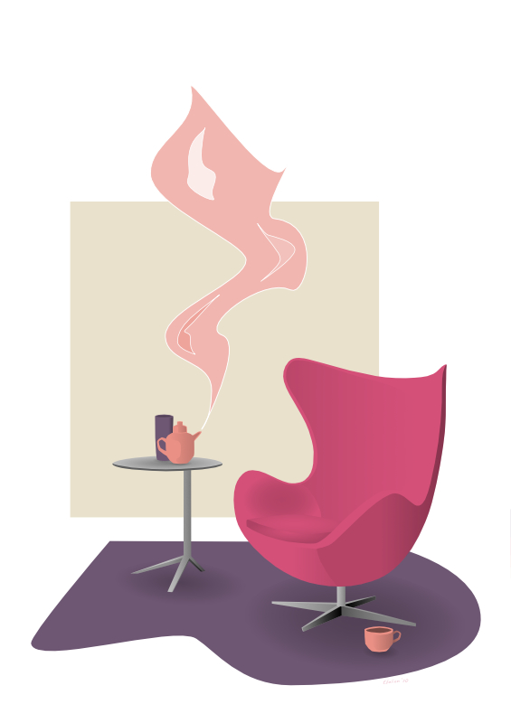 Eggchair illustratie